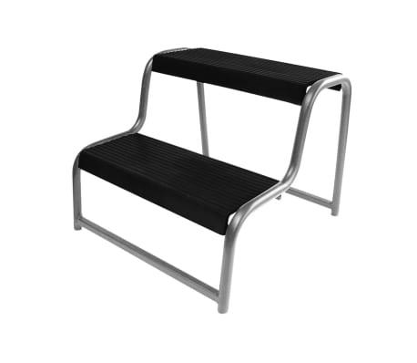 marche pied double noir pour caravane autocaravane proplus. Black Bedroom Furniture Sets. Home Design Ideas