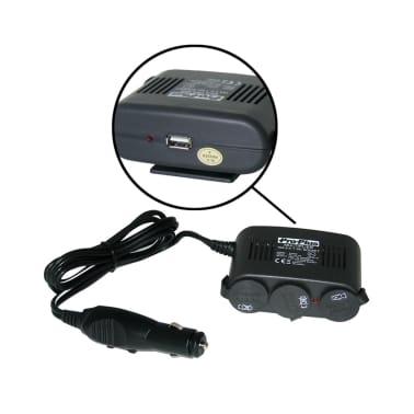 Trijų Lizdų Įkroviklis 12 V su USB ir Montavimo Plokštele[2/4]