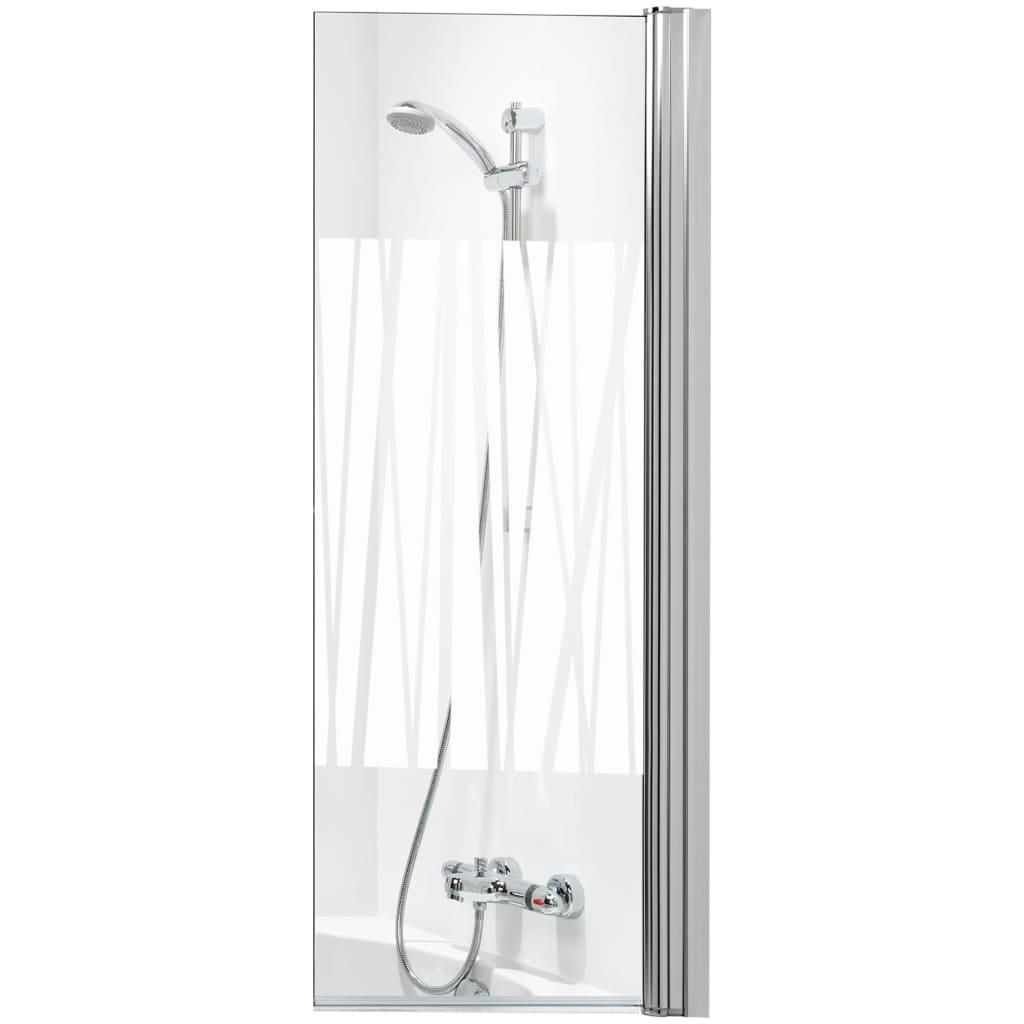 Afbeelding van Get Wet by Sealskin badwand S105 70 cm gedecoreerd glas SH010704314400