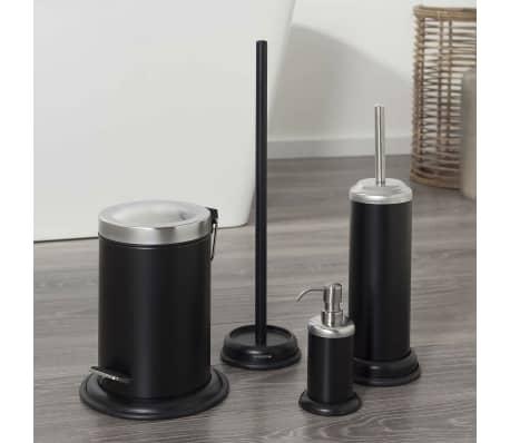 sealskin wc b rste und b rstenhalter acero schwarz 361730519 zum schn ppchenpreis. Black Bedroom Furniture Sets. Home Design Ideas