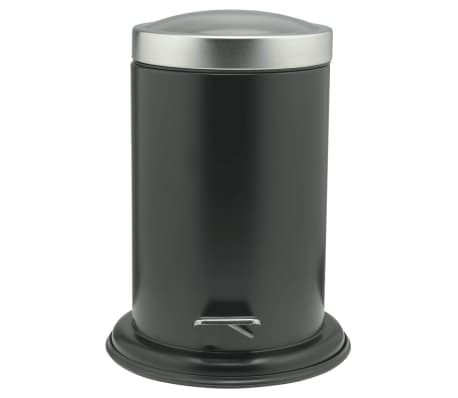 Sealskin Papelera con pedal Acero negra 3 L 361732419[1/4]
