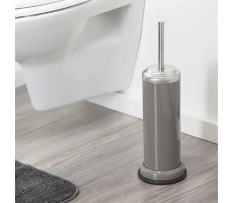 Portaescobilla de ba o sealskin acero 361730567 color gris pardo - Color gris acero ...