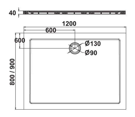 Get Wet by Sealskin fusion innebygd dusjbrett rektangulært 60431209410[2/2]