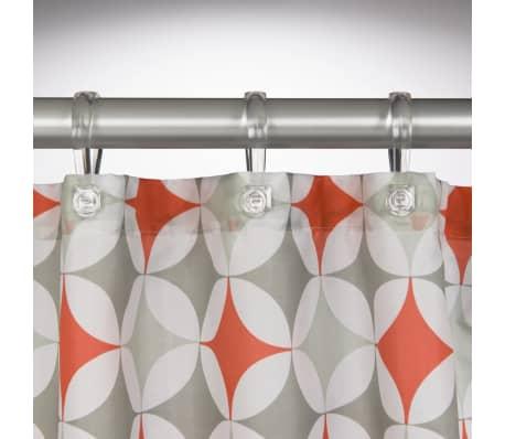 Sealskin Shower Curtain Diamonds 180 Cm Coral 2352013463 3
