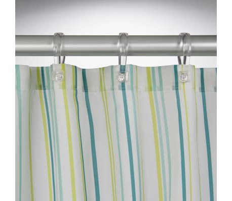 The Sealskin Fiesta Shower Curtain With Its Beautiful Hues Of Green And Floral Decorations On A White Background Is Feast For Eyes