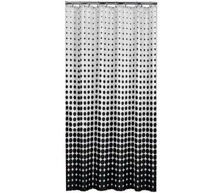 acheter rideau de douche speckles de sealskin 180 cm noir 233601319 pas cher. Black Bedroom Furniture Sets. Home Design Ideas