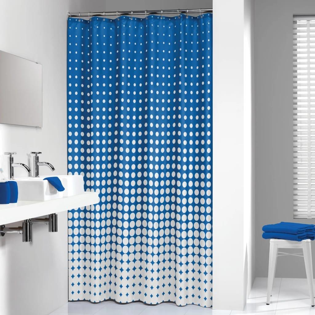 Sealskin Perdea de duș Speckles, albastru regal, 180 cm, 233601323 imagine vidaxl.ro