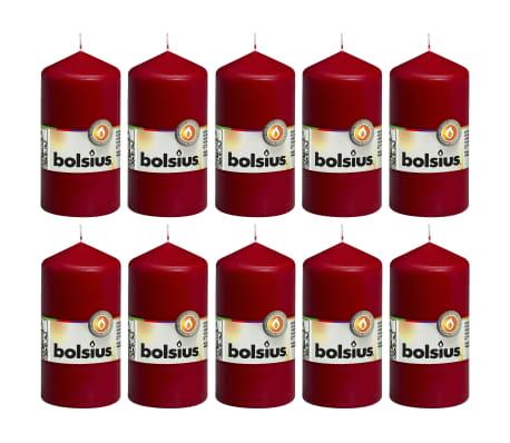 Bolsius Świece pieńkowe, 10 szt., 120 x 58 mm, czerwone wino