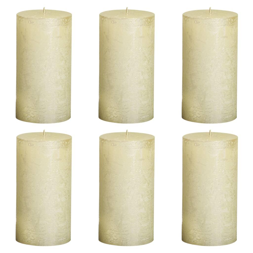 Bolsius Lumânări bloc rustice, 6 buc., ivoriu, 130 x 68 mm poza 2021 Bolsius