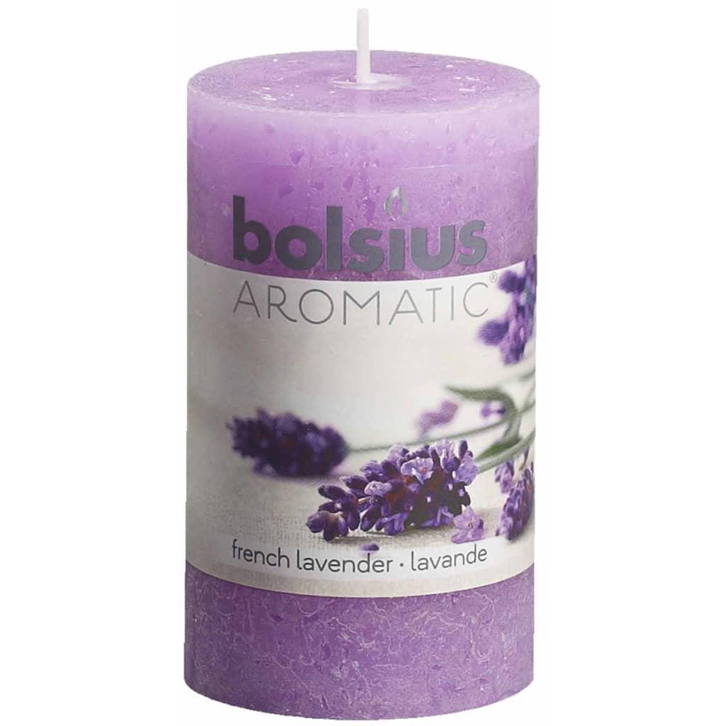 Bolsius Rustika blockljus med doft 6 st French Lavender 103626240377
