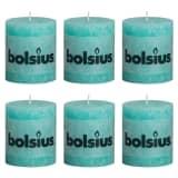 Bolsius Rustic Pillar Candles 6 pcs 80x68 mm Ocean Blue