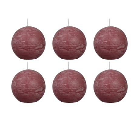 Bolsius Lumânări bilă rustice 6 buc., 80 mm, roz învechit