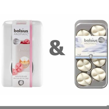 Bolsius Wax Melts.Bolsius Wax Burner Set With Wax Melts Fresh Linnen 107790501858