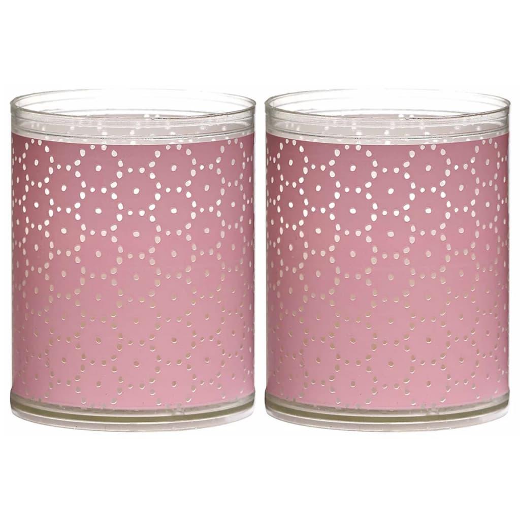 Afbeelding van Bolsius 6 st Sparkle Lights Lace roze 103622390540