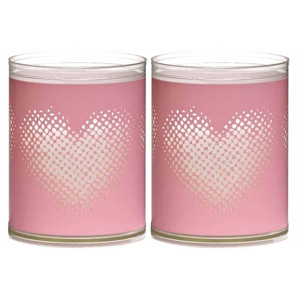 Afbeelding van Bolsius 6 st Sparkle Lights Heart roze 103622396740