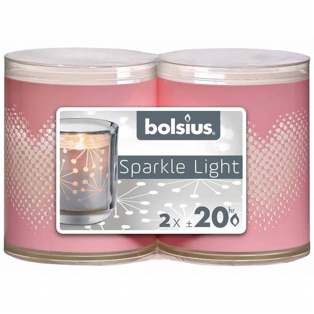 Bolsius Sparkle Lights Heart roze 2 st 103622396740