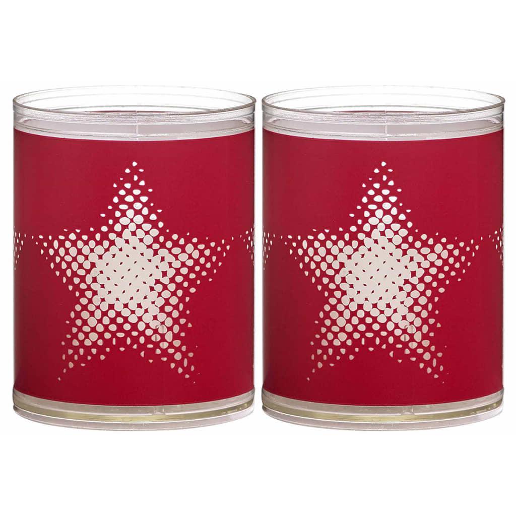 Afbeelding van Bolsius 6 st Sparkle Lights Star rood 103622390541