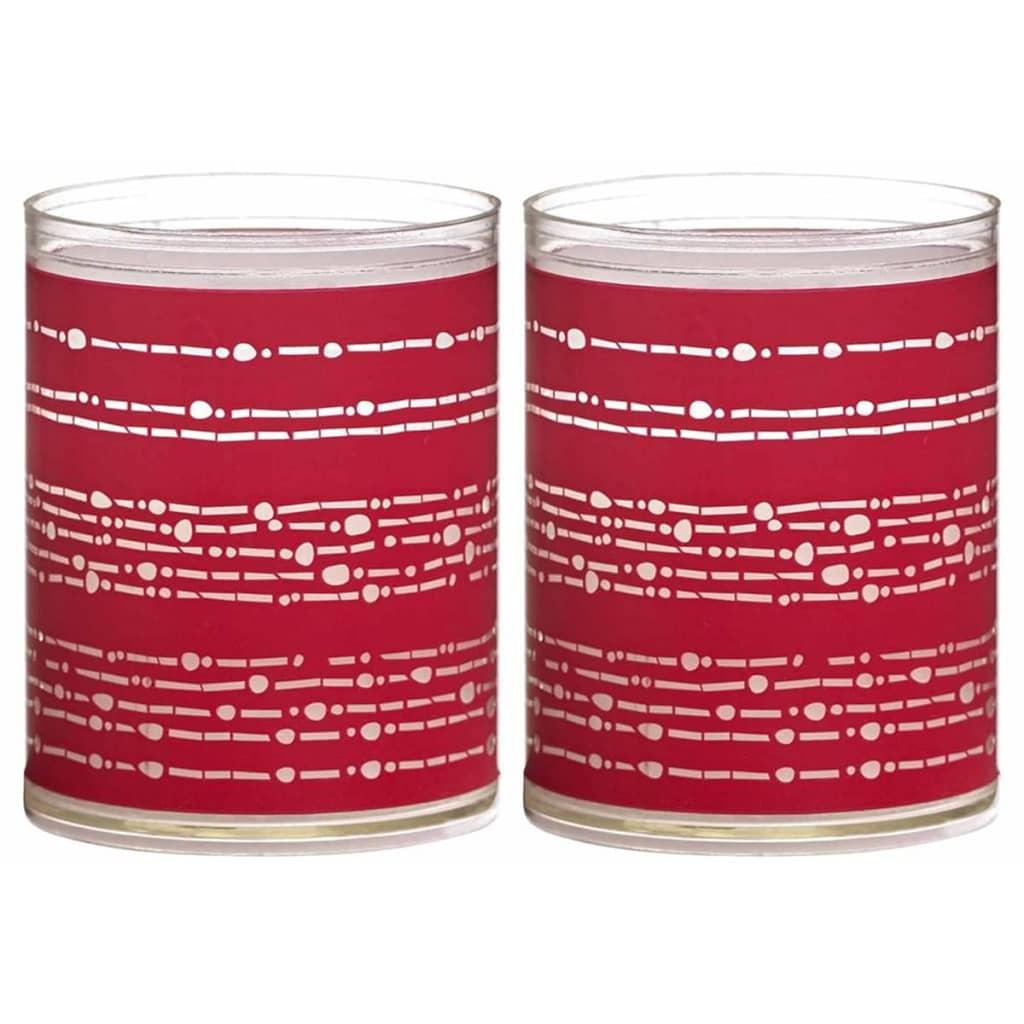 Afbeelding van Bolsius 6 st Sparkle Lights Ribbon rood 103622396741