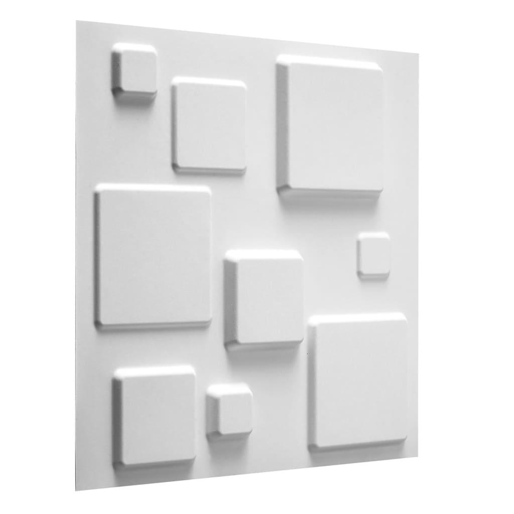 WallArt 3D-seinapaneelid, ruudud, 12 tk