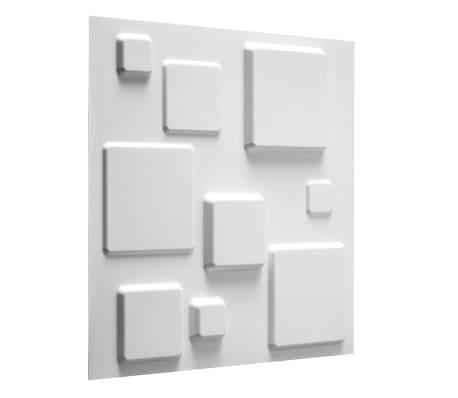 WallArt 3D Sienos plokštės Squares 12 vnt. GA-WA09[1/10]
