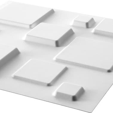 WallArt 3D Sienos plokštės Squares 12 vnt. GA-WA09[2/10]
