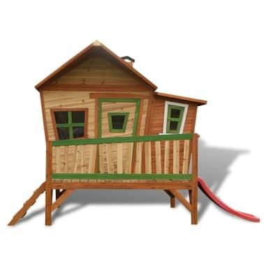 axi kinder holzspielhaus mit rutsche emma g nstig kaufen. Black Bedroom Furniture Sets. Home Design Ideas