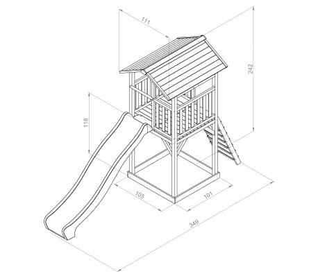 Sunny Speelset Beach Tower Basic 349x105x242 cm C050.016.00[5/5]