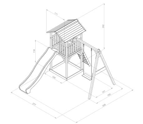 Sunny Aire de jeu Beach Tower Single Swing 349x277x242 cm C050.017.00[6/6]