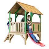 AXI Žaidimų namelis su kopėčiomis ir čiuožykla Akela, mediena