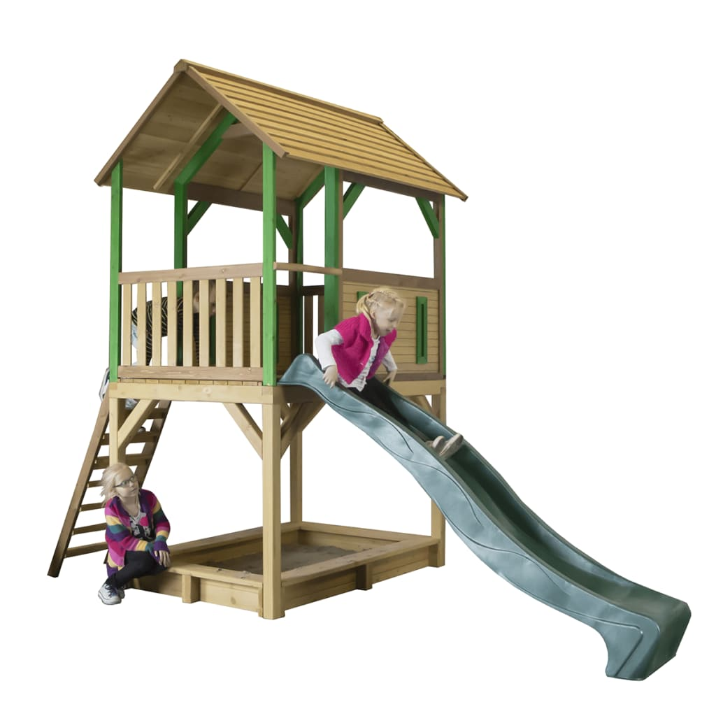 AXI Playhouse with Ladder Slide Sandpit Pumba Wood A030.215.00 For ...