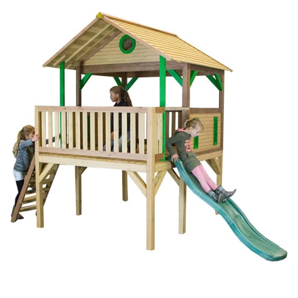 AXI Căsuță de joacă Baloo cu scară și tobogan, lemn, A030.218.00 poza vidaxl.ro
