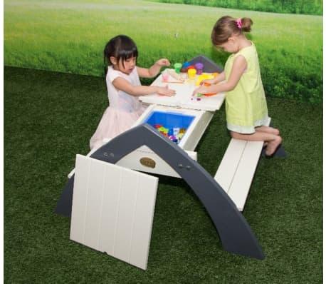 AXI Table de pique-nique d'enfants Delta Gris et blanc A031.023.00[5/6]