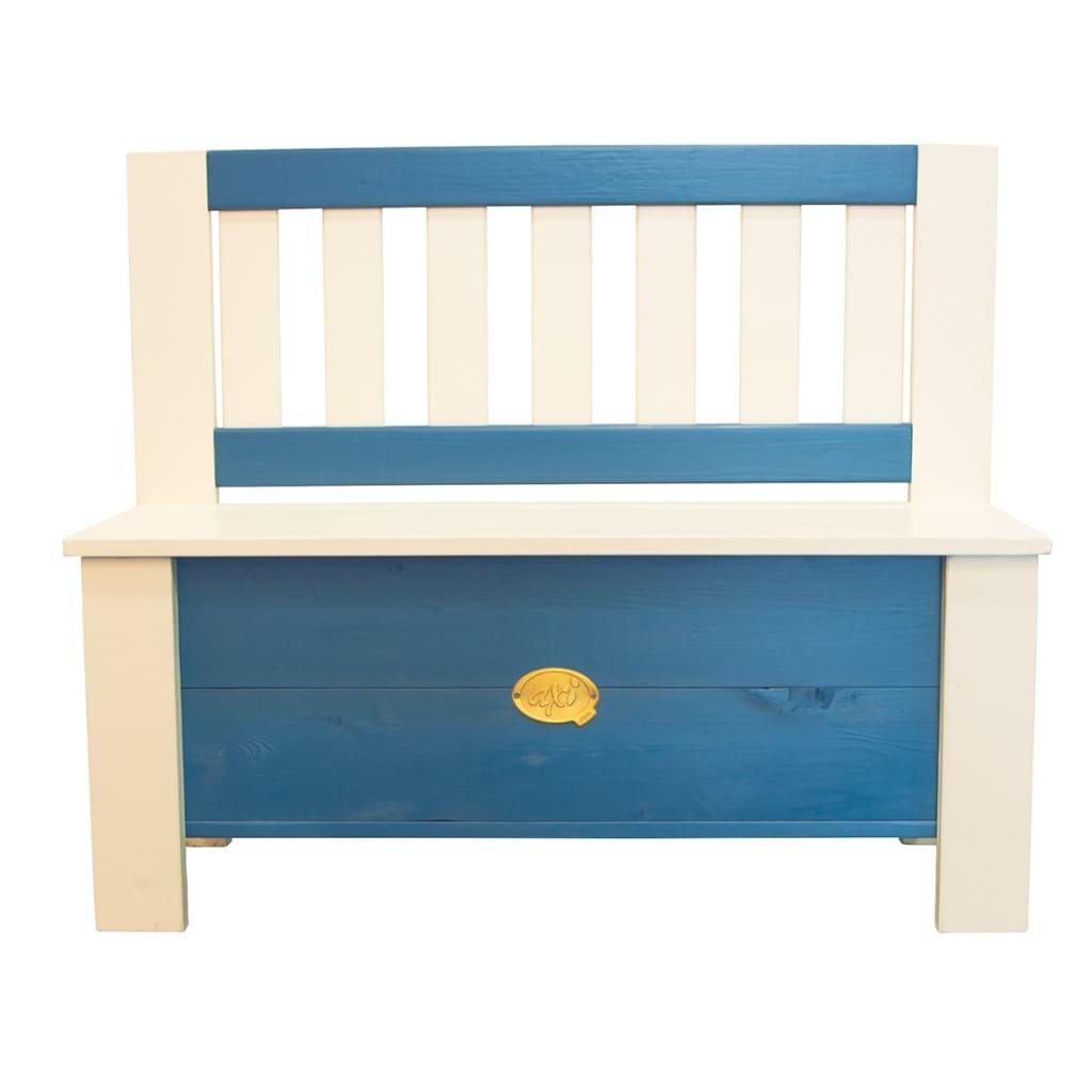 Afbeelding van AXI Opbergbank voor kinderen Moby blauw en wit A031.041.00