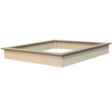 Sunny Medinė smėlio dėžė, 127x127 cm, ruda ir balta, C052.001.00[2/6]