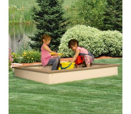 Sunny Medinė smėlio dėžė, 127x127 cm, ruda ir balta, C052.001.00[5/6]