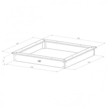 Sunny Medinė smėlio dėžė, 127x127 cm, ruda ir balta, C052.001.00[6/6]