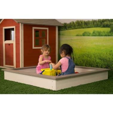Sunny Medinė smėlio dėžė, 127x127 cm, ruda ir balta, C052.001.00[1/6]