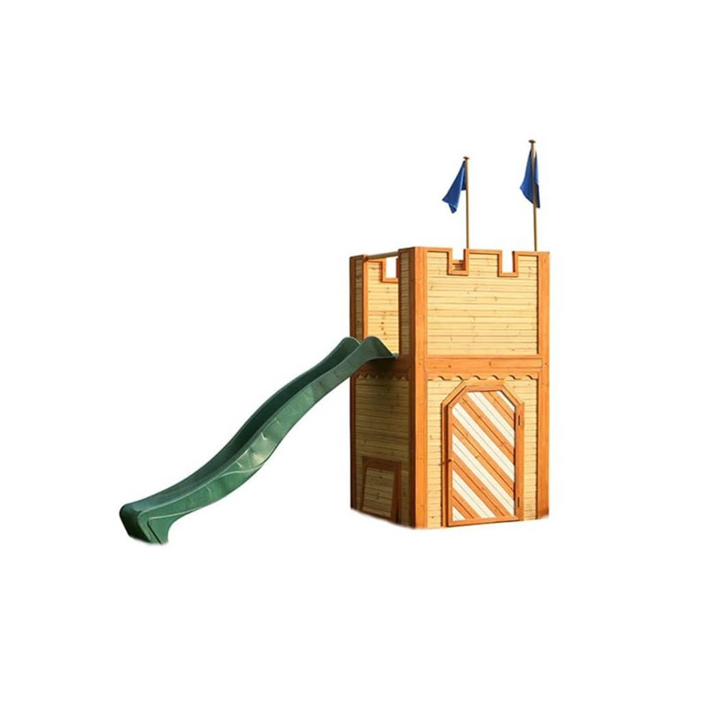 AXI Căsuță de joacă Arthur cu scară și tobogan, lemn, A030.109.00 poza vidaxl.ro