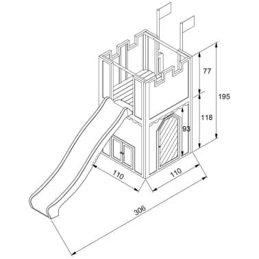 AXI Aire de jeu avec échelle et toboggan Arthur Bois A030.109.00[6/6]