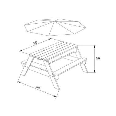 AXI Mesa de picnic arena/agua con sombrilla Nick[12/12]