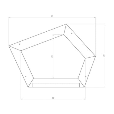 AXI Pizarra con madera curvada marrón A031.007.00[2/2]