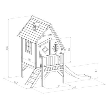 Sunny Maison pour enfants Cabin XL avec toboggan C050.004.00[7/7]