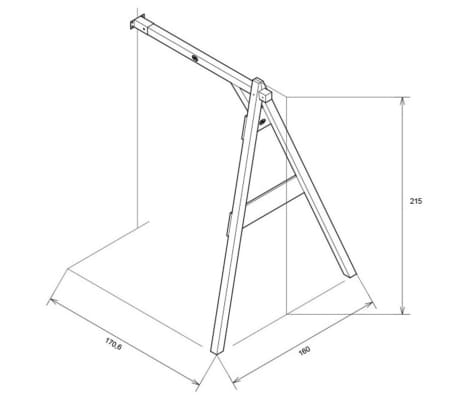 Axi Single Swing Wall Mount Brown A030 145 00