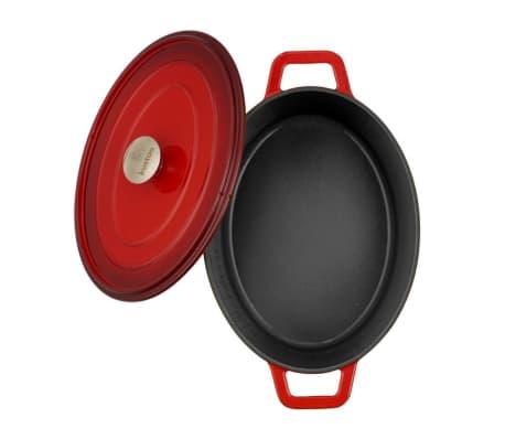 "Kustaa gietijzeren casserole pan 29cm ovaal ""Red/Black""[1/2]"