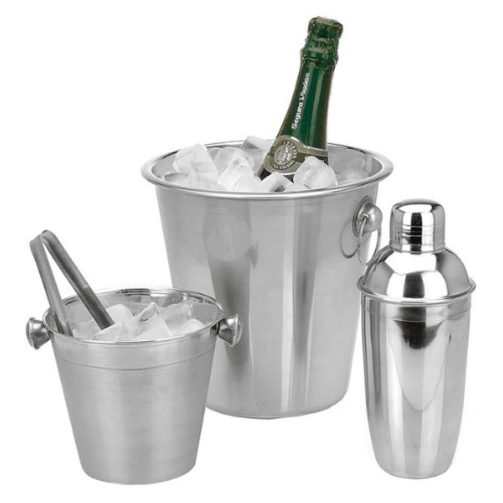 Excellent Houseware Kit da Barman 4 pz in Acciaio Inossidabile