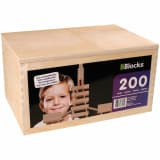 BBlocks Bouwplankjes bruin hout 200 st BBLO890200