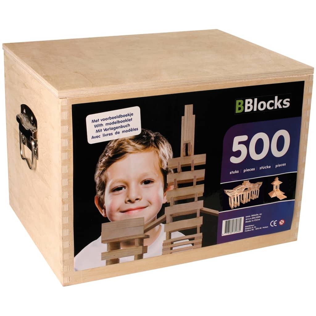 Afbeelding van BBlocks Bouwplankjes bruin hout 500 st BBLO890201