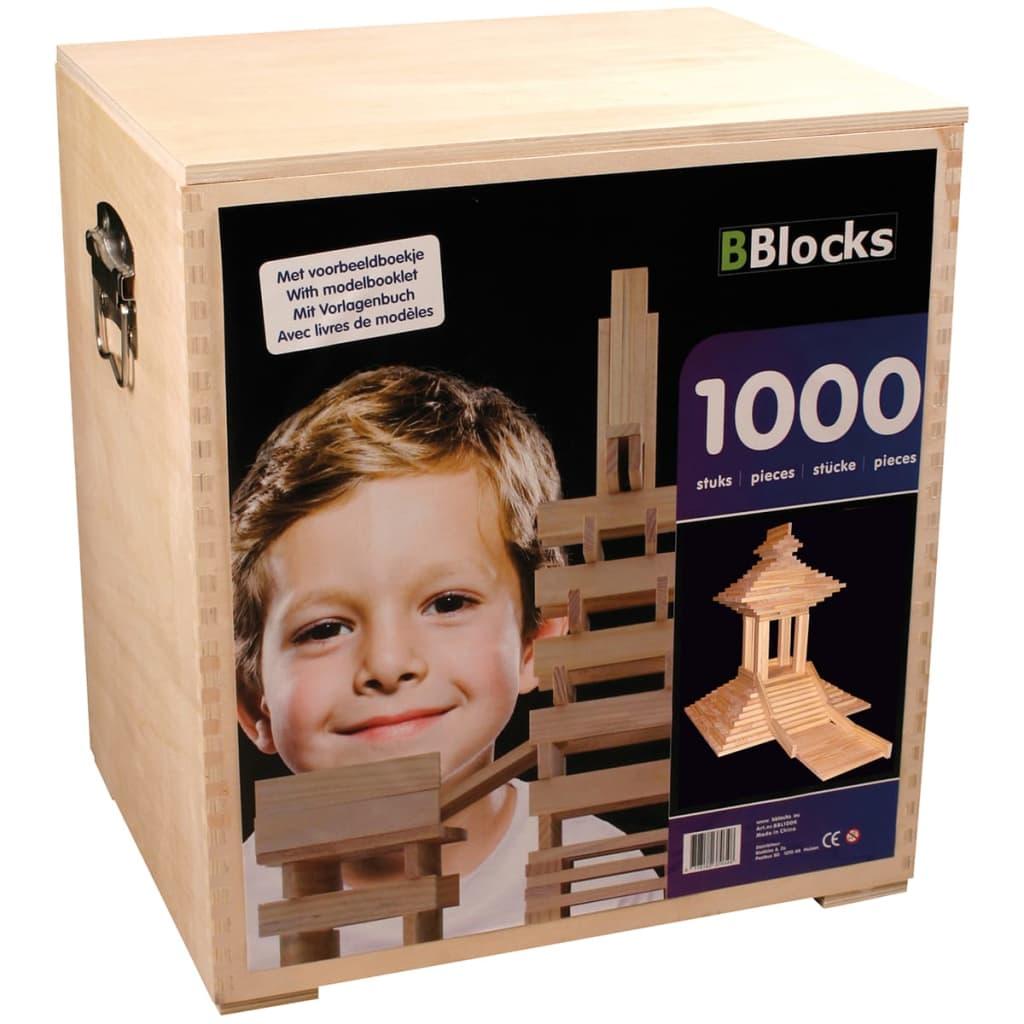 Bouwplankjes Bblocks In Kist 1000 Stuks