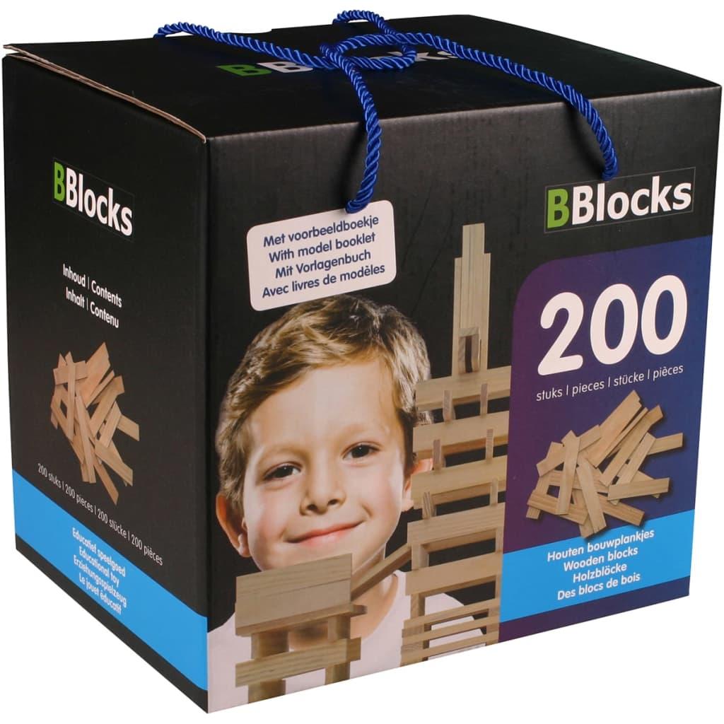 Afbeelding van BBlocks Bouwplankjes bruin hout 200 st BBLO890101