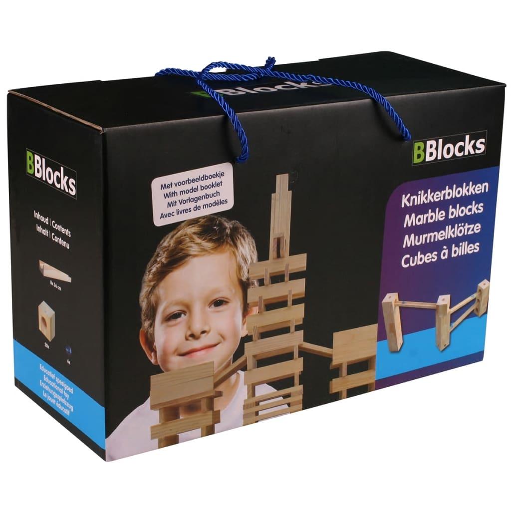 Afbeelding van BBlocks Knikkerblokken set bruin hout 34 st BBLO890301